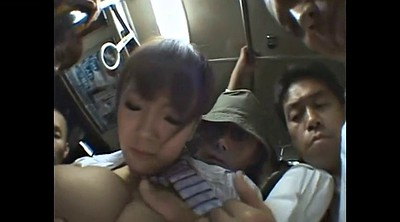 Bus, Japanese bus, Japanese gangbang, Japanese bukkake, Outdoor gangbang, Japanese outdoor