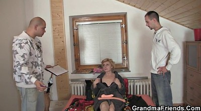 Thin, Delivery, Old&young, Old woman, Mature woman, Granny caught