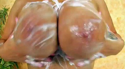 Oil, Busty masturbation