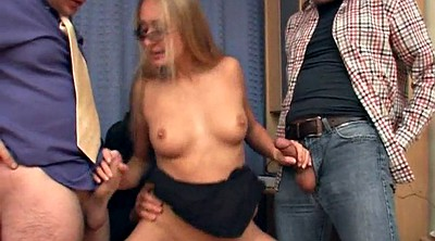 Castings, Casting gangbang, Glasses blond