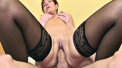 Mature anal, Granny anal, Mature stockings