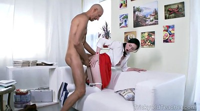 Anal granny, Old teacher, English
