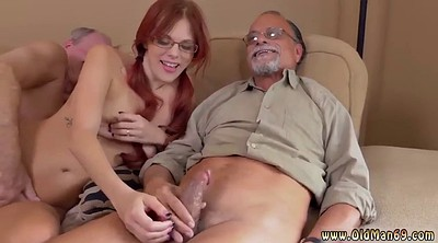 Old and young, Old threesome, Amateur cuckold