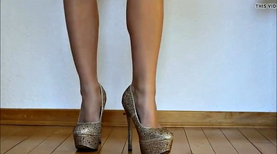 High heels, Jerking, Romanian, Jerking off