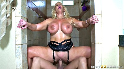 Jenson, Mouth, Mom shower, Mom pussy, Shower mom, Mom big boobs