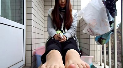 Foot fetish, Chinese teen, Chinese foot, Asian foot, Sole, Feet sole
