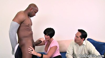 Cuckold, Large cock, Ebony wife