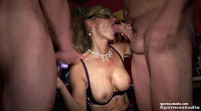 Bukkake, German creampie, German milf