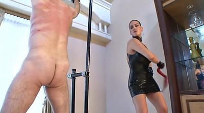 Whipping, Latex, Whipping femdom, Mistress, Male slave, Femdom whipping