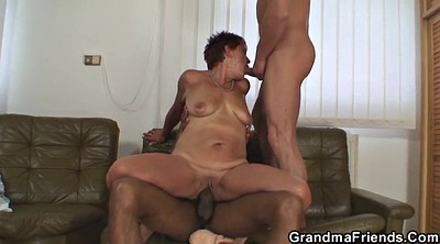 Grandma, Wife threesome, Mature threesome, Granny young