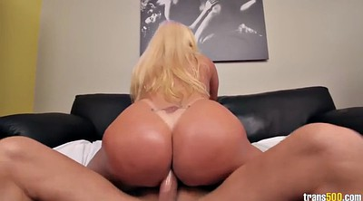 Blonde big ass, Chubby anal, Shemale riding, Shemale cumshot