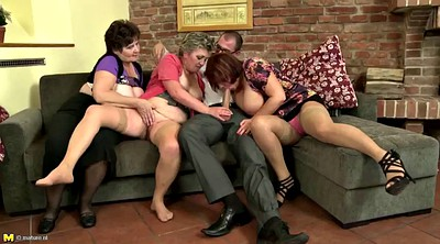 Group sex, Young boy milf, Granny group, Lucky boy, Old mother, Granny boy