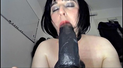 Giant, Crossdress, Crossdresser dildo
