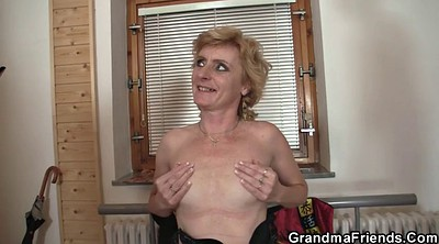 Old woman, Mature gay, Thin, Delivery, Granny gay