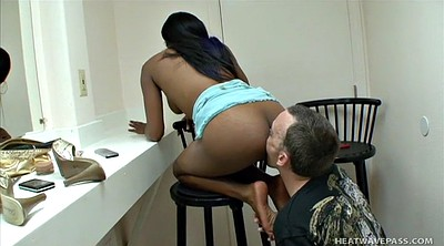 Ebony, Footjob teen