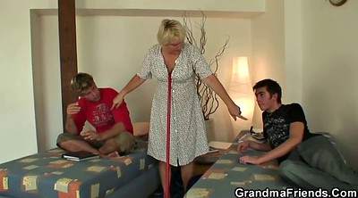 Matures, Young wife, Wife threesome, Old granny