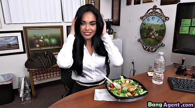 Agent, Selena, Busty slut, Busty office, Busty latina