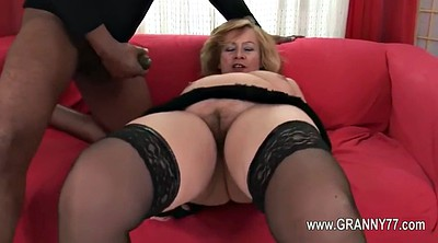 Mature interracial, Granny love
