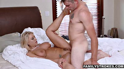 Father, Daddies, Big tits milf, Stepson, Flower, Horny