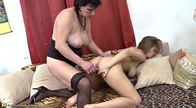 Mom, Lesbo, Young mom, Mature couple