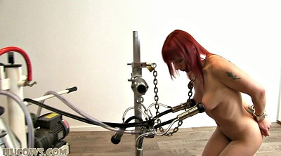 Tit torture, Torture, Strangled, Strangle, Red hair, Red haired