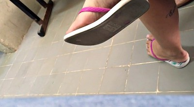 Brazilian, Teen foot, Sole, Dangling, Candid foot, Candid