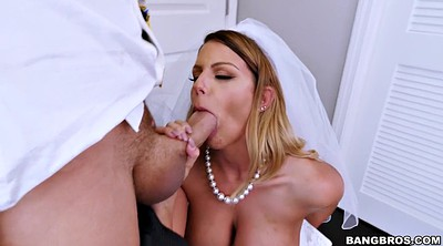 Wedding, Bride, Chase, Busty blonde