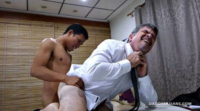 Daddy, Asian daddy, Gay asian, Young boy, Asian dad, Office gay
