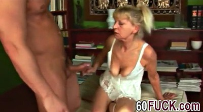 Milf and young, Blonde granny, Granny fuck, Young fuck
