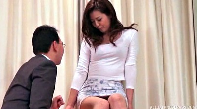 Asian woman, Japanese panties, Touch