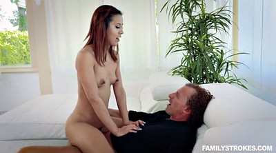 Family, Father, Small, Family strokes, Latina doggy, Family stroke
