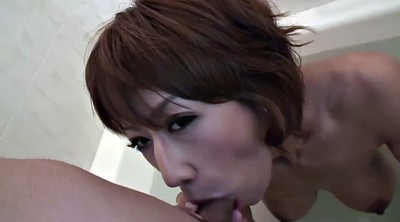 Japanese big tit, Cock suck