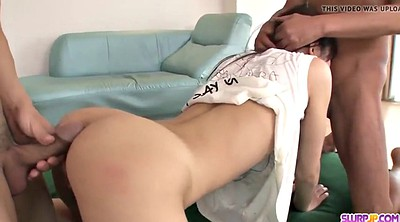 Asian anal creampie, Japanese more