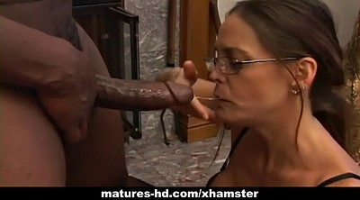 Big mature, Mature interracial, Hunter, Cock milking