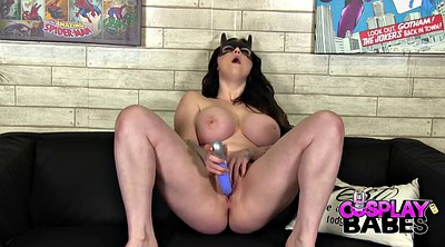 Cartoon, Dildo orgasm, Cosplay masturbation