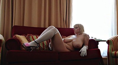 Stockings, Hairy mature, Gloves