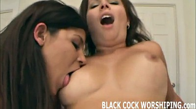 Black ebony, Femdom cuckold, Black and white