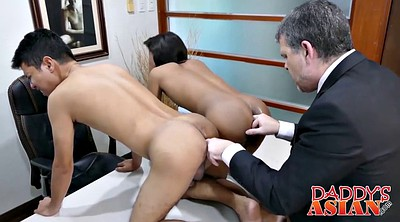 Office, Asian gay, Asian daddy, Asian daddies