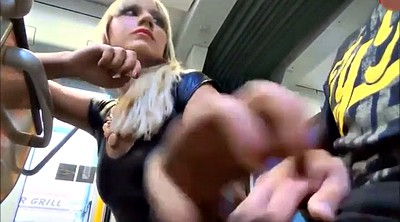 Bus, German handjob