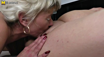 Fuck mom, Pregnant lesbian, Old & young