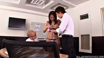 Cowgirl, Asian gangbang, Office gangbang, Asian office