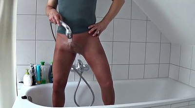 Pantyhose, Take a shower