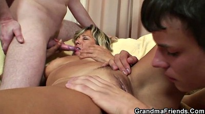 Granny boy, Granny threesome, Boy mature