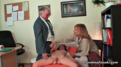 Granny sucking, Mature couple, Granny threesome
