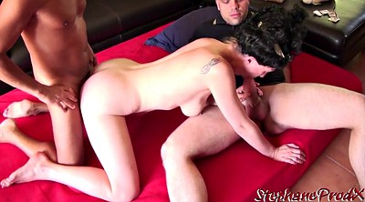 Anal threesome, Invite, French milf anal, French couple