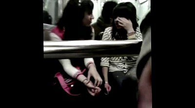 Bus, Watching, Girl on girl, Asian bus, Public jerk, On bus