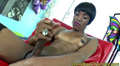 Ebony solo, Shemale solo, Tranny solo, Shemale cumshot, Shemale and shemale