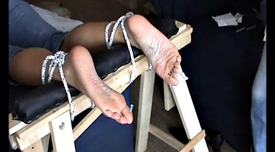 Needling, Needle, Needles, Mature feet, Mature foot
