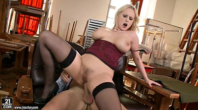 Stocking anal, Czech blonde, Blonde stockings