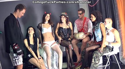 Student, Double, Sex party, Orgy, Friday, Lesbian orgy
